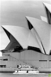 Sale 8721A - Lot 99 - Artist Unknown - The Rosmans Ferry in front of the Sydney Opera House, NSW. 1985 24 x 16cm