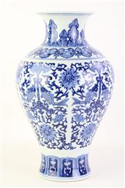 Sale 8802 - Lot 482 - Blue and White Kangxi Marked Vase (Height: 37cm)
