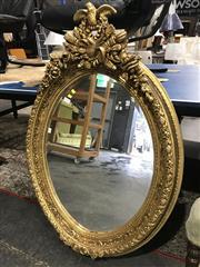 Sale 8822 - Lot 1150 - Oval Gilt Framed Mirror - 209