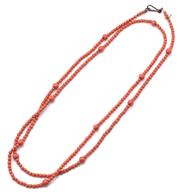 Sale 9071F - Lot 26 - A CORAL AND GLASS BEADED NECKLACE, in a peachy pink orange