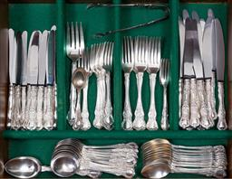 Sale 9140H - Lot 40 - A collection of EP cutlery including Windsor, Rodd and Community.