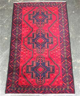 Sale 9146 - Lot 1029 - Hand knotted pure wool Persian baluchi ( 150 x 80cm)