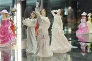 Sale 8322 - Lot 3 - Royal Doulton Figures Au Revoir, Christmas Garlands & Christmas Parcels