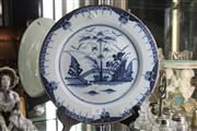 Sale 8360 - Lot 32 - 18th Century Blue & White Delft Plate