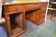 Sale 8390 - Lot 1394 - Twin Pedestal Desk