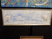 Sale 8419T - Lot 2041A - Mark Lobert - Sydney Harbour Bridge, acrylic on board, 37 x 120cm, signed verso