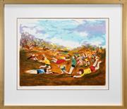 Sale 8427 - Lot 580 - David Boyd (1924 - 2011) - War Games 58.5 x 77cm