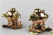 Sale 8560 - Lot 80 - Decorative Replica U.S Diving Helmets (2)