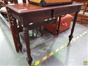 Sale 8570 - Lot 1042 - Timber Hall Table