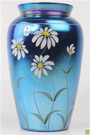 Sale 8594 - Lot 47 - Blue Fenton Art Glass Vase