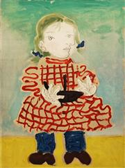 Sale 8665 - Lot 527 - Pablo Picasso (1881 - 1973) - Maya en Tablier (Maya in Pinafore) 54 x 73cm