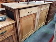 Sale 8672 - Lot 1054 - Pine Sideboard with Two Drawers & Doors