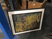 Sale 8711 - Lot 2059 - Retro/Paris Hand Coloured Print Jack Layoux 55x45cm