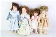 Sale 8894 - Lot 32 - Group of Hillview Lane Porcelain Dolls (4)
