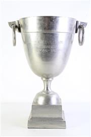 Sale 9003 - Lot 56 - A Large Trophy Form Champagne Bucket with Ring Handles H: 46cm