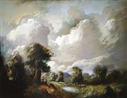 Sale 9021 - Lot 509 - Carl Stringfellow (1954 - ) - Sheep & Shepherds 54.5 x 69.5 cm (frame: 77 x 92 x 4 cm)