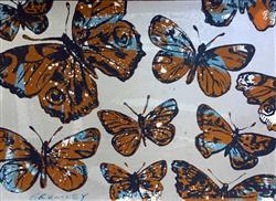 Sale 9091A - Lot 5022 - David Bromley (1964 - ) - Butterflies 71.5 x 100 cm