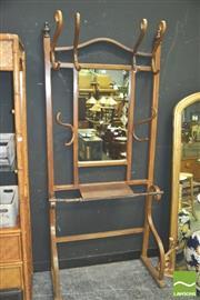 Sale 8371 - Lot 1014 - Wall Mount Bentwood Coat Rack