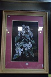 Sale 8569 - Lot 2020 - Helen Kaminski Still Life - Wildflowers, gouache, 68 x 50cm (frame) signed lower right