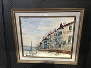 Sale 8711 - Lot 2060 - Borchamp, European School - Street Scene, Oil, 78x50cm