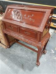 Sale 8740 - Lot 1001 - Oriental Drop Front Writing Desk