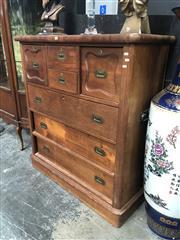 Sale 8868 - Lot 1177 - Mahogany 7 Drawer Chest