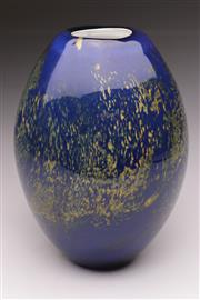 Sale 9078 - Lot 115 - A Good Italian Cased Tree of Life Glass Vase, with hand painted highlights, H: 25cm