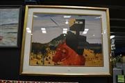 Sale 8453 - Lot 2065 - Sidney Nolan Print (1917 - 1992) - Ned Kelly, 1975 61.5 x 69cm (frame size: 71 x 87.5cm)