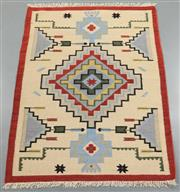 Sale 8438K - Lot 70 - Jaipur Veggie Dye Kilim Rug | 183x123cm, Pure Wool, Handwoven in Rajasthan, India with a pure NZ wool composition. Fully reversible ...