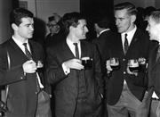 Sale 8754A - Lot 38 - Australian Players Phil Hawthorne, Greg Cunnian, D. O'Callaghan, Ken Catchpole, Guinness Brewery, Dublin, 1967 - 18 x 24cm