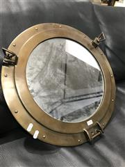 Sale 8809 - Lot 1005 - Brass Porthole Mirror