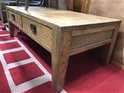 Sale 8817 - Lot 1054 - Timber 2 Drawer Coffee Table