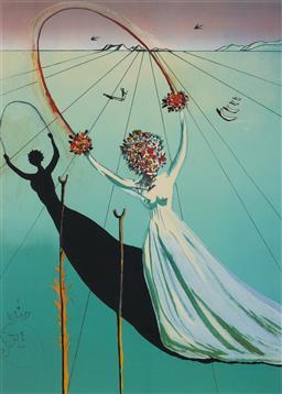 Sale 9125 - Lot 561 - Salvador Dali (1904 - 1989) Alice in Wonderland colour etching, ed. 317/500 74.5 x 53 cm (frame: 113 x 82 x 3 cm) facsimile signatur...