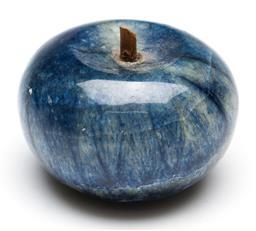 Sale 9246 - Lot 65 - A blue stone figure of an apple (Dia:6.5cm)