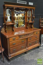 Sale 8347 - Lot 1010 - Mirrored Back Sideboard