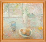 Sale 8440A - Lot 34 - Jean Appleton - Still Life with Fruit on Table 68 x 76cm