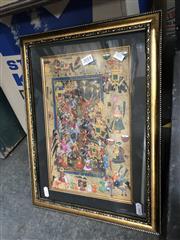 Sale 8797 - Lot 2014 - Indo-Persian School - Royal Festival gouache on paper, 43 x 32cm (frame)