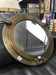 Sale 8809 - Lot 1007 - Brass Porthole Mirror