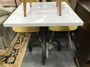 Sale 8822 - Lot 1272 - Bentwood Side Table with White Melamine Top