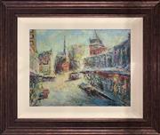 Sale 8932 - Lot 2015 - Hans Selke - Street Scene, oil on canvas on board, 58 x 76 cm, signed lower right