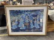 Sale 8995 - Lot 2049 - Indo-Persian Court Scene, acrylic on cotton, (frame: 84 x 108cm)