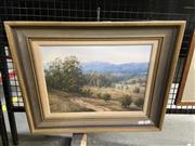 Sale 9041 - Lot 2048 - OC Garner Orchard Track, Buderim QLD oil on canvas 46 x 56cm (frame) signed -
