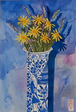 Sale 9161A - Lot 5005 - GREG IRVINE (1947 - ) - Floral Still Life 54 x 36.5 cm (frame: 89 x 69 x 3 cm)