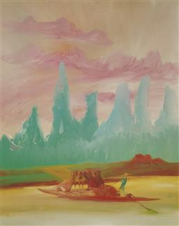 Sale 9170A - Lot 5014 - SIDNEY NOLAN (1917 - 1992) Guilin River (China Series) lithograph, ed. 12/99 72 x 57 cm (frame: 103 x 82 x 3 cm) signed lower right,...