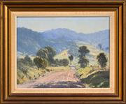 Sale 8297 - Lot 582 - Michael McCarthy (1940 - ) - Winding Road to Cambewarra, 1977 34.5 x 44.5cm