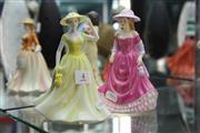 Sale 8322 - Lot 4 - Royal Doulton Figures Summer Breeze & Springtime