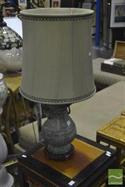 Sale 8341 - Lot 1015 - Oriental Bronze Lamp