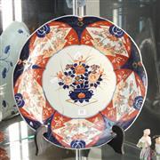 Sale 8362 - Lot 11 - Imari Pattern Charger (restored)