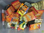 Sale 8559A - Lot 62 - Box of Matchbox Cars incl. The Automotive Superstars, all boxed.