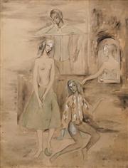 Sale 8624 - Lot 597 - Jocelyn Rickards (1924 - 2005) - Untitled, 1941 62 x 47cm